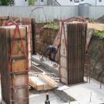Basement foundation walls going up