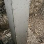 Concrete column in place