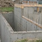 Foundation for new foyer