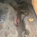 Under slab utilities going in
