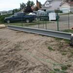 Steel beam awaiting installation