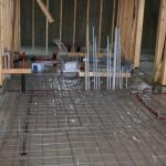 Basement floor in progress