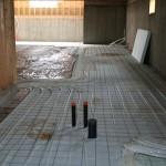 Basement floor slab in progress