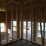 Main floor framing in progress