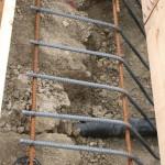 Rebar in place for footings